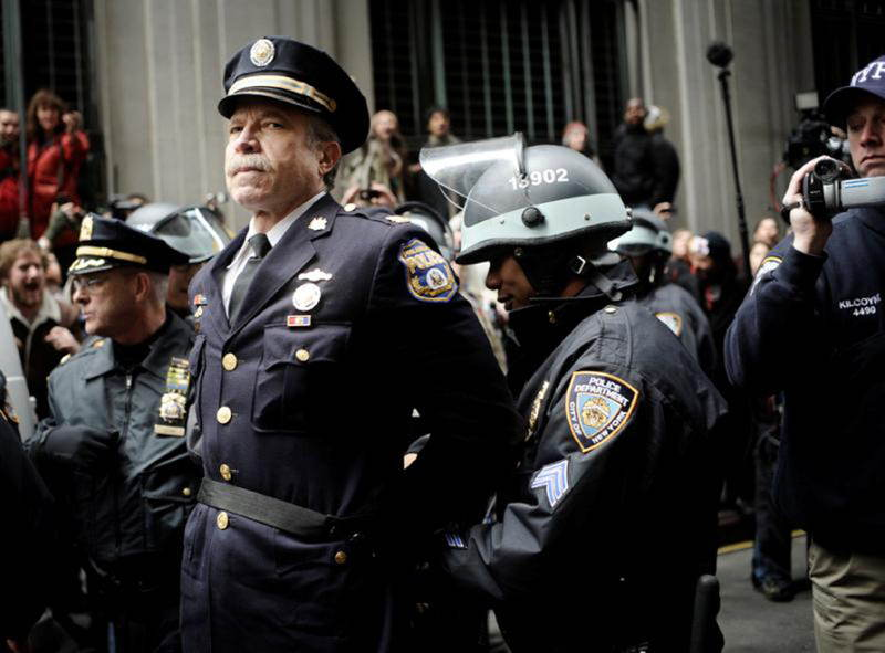 Retired Philadelphia Police Captain Ray Lewis is arrested for joining the Occupy Wall Street protests in 2011.